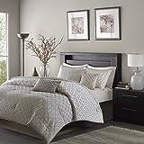Madison Park MP10-1735 Biloxi Comforter Set Queen Silver,Queen
