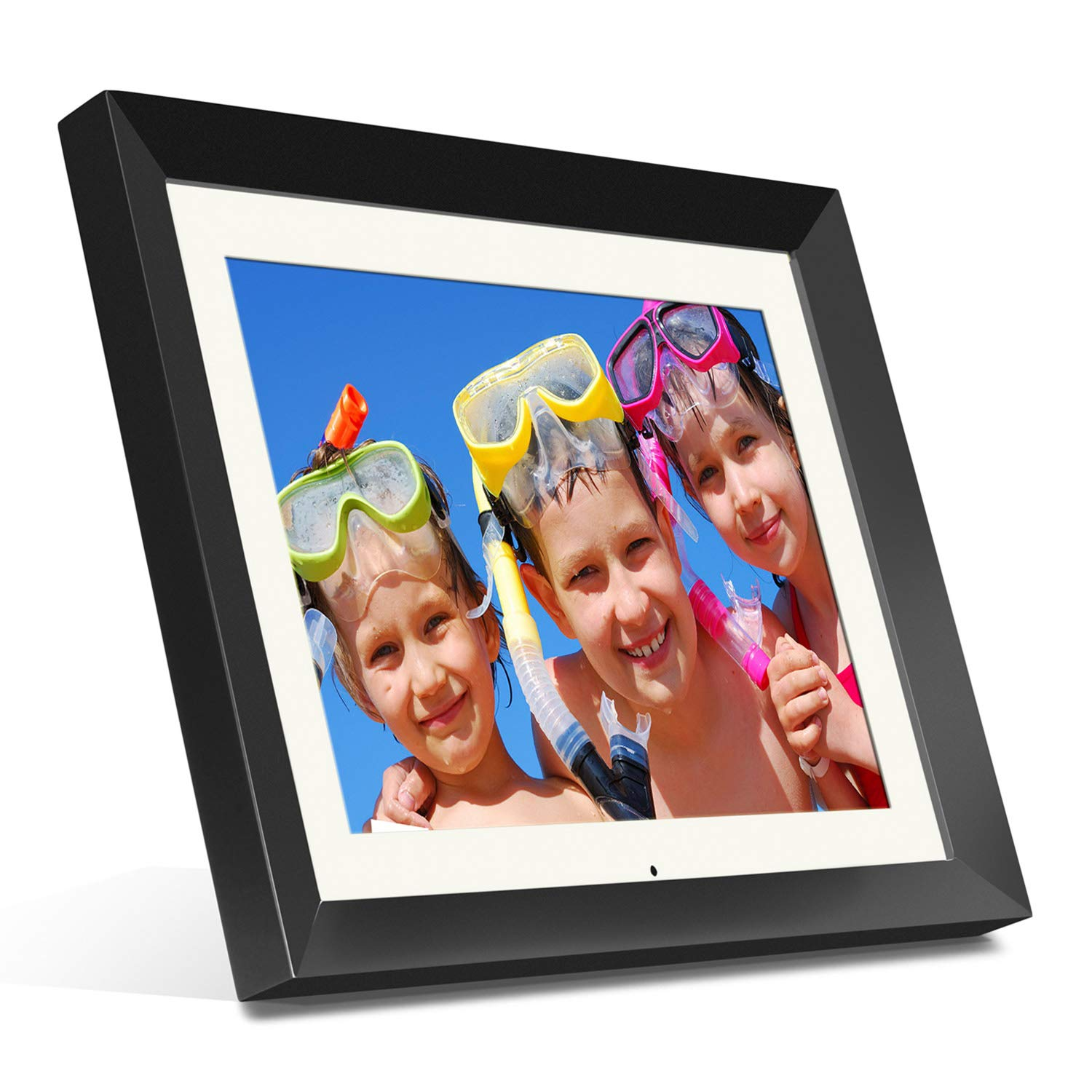 Aluratek (ADMPF415F) 15'' Hi-Res Digital Photo Frame with 2 GB Built-In Memory and Remote (1024 x 768 Resolution) White Matting, Photo/Music/Video Support by Aluratek