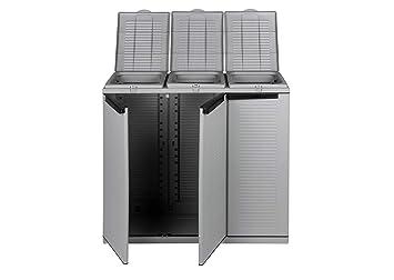 Gartenschrank Outdoor Küche : Kreher xxl gartenschrank müllbox mit türen und halterung für