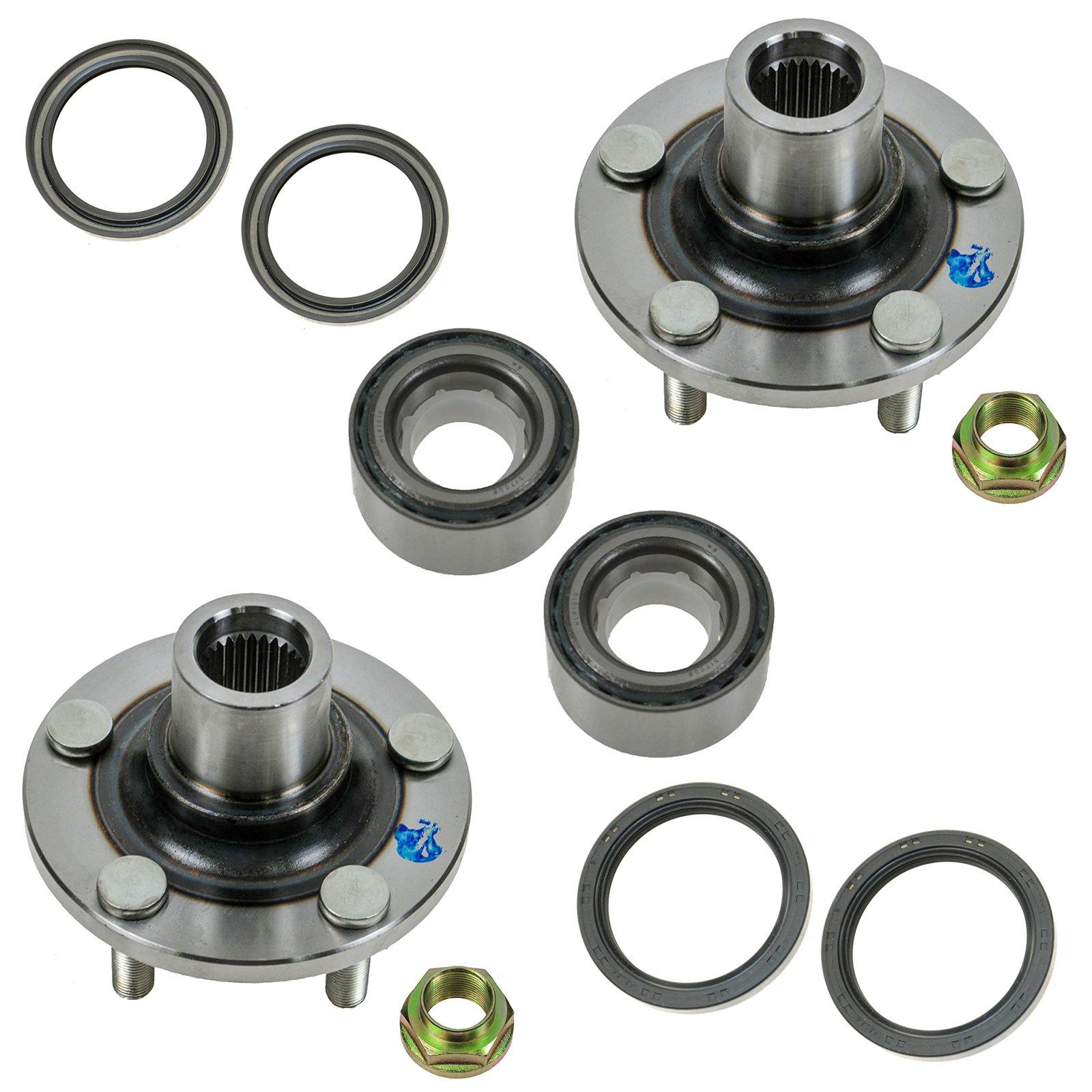 Wheel Bearing, Seal & Hub Front Driver & Passenger Side Kit 8 Piece for Subaru