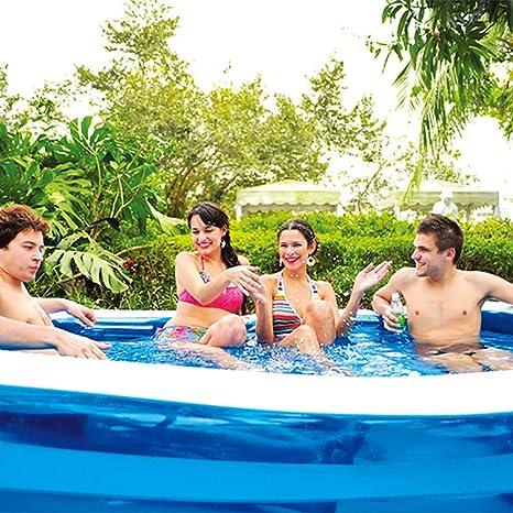 Zhyaj Los Niños Piscina para Jardines Grandes Piscinas Al Aire Libre Portátiles Inflables Paleando Familia Easy Set Piscina,Azul,318 * 180 * 68cm: Amazon.es: Deportes y aire libre