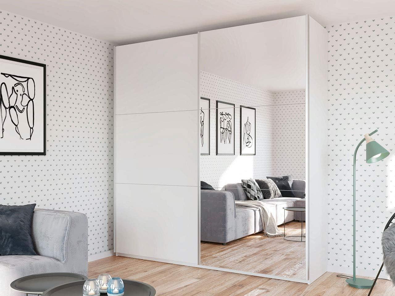 Mirjan24 Magnus - Armario de puertas correderas con espejo para dormitorio, armario con mucho espacio de almacenamiento, armario, vestíbulo, elegante armario para el dormitorio: Amazon.es: Juguetes y juegos