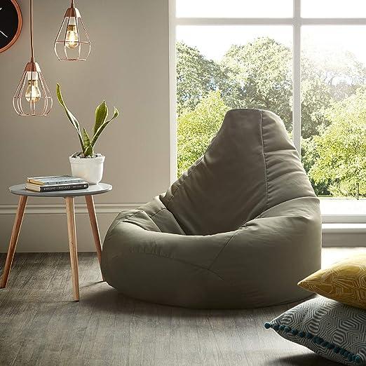 Beautiful Beanbags Oliva Puff puf de Resistente al Agua Bolsas para Uso Interior y al Aire Libre, Ideal para sillón para Videojuegos y Silla de jardín: Amazon.es: Jardín