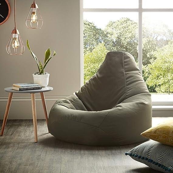 Beautiful Beanbags Oliva Puff puf de Resistente al Agua Bolsas para Uso Interior y al Aire Libre, Ideal para sillón para Videojuegos y Silla de jardín: ...