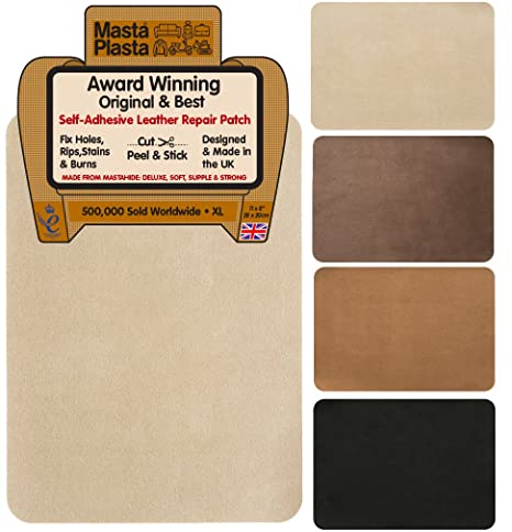 MastaPlasta New! Self-Adhesive XL Suede Repair Patch. 28cmx20cm. Choose Colour. First-Aid for Sofas, Car Seats. Fix Holes, Rips, Burns, Stains