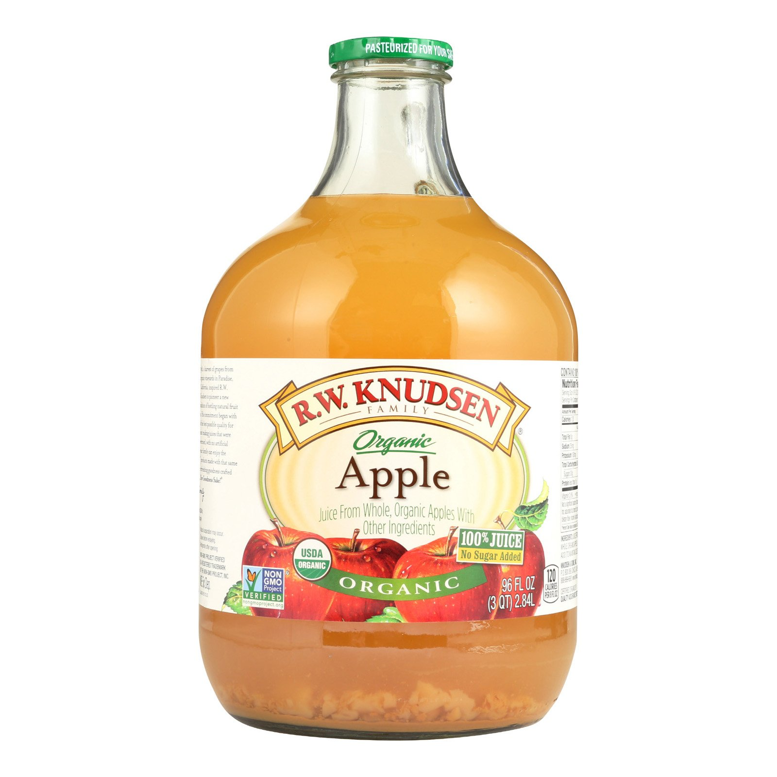 R.W. Knudsen Organic Juice - Apple - Case of 6 - 96 Fl oz.