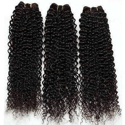 Extension Capelli Veri Tessitura Ricci Kinky Curly 3 Bundles 40cm 40cm 40cm  300g pack Matassa 358d52a6a04f