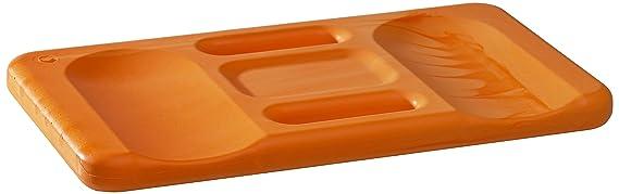Kronen Hansa Kniekissen Ergo-Soft Mat, orange mit ergonomischer Formgebung, praktischer Tragegriff, 24 x 44 cm groß, 30 mm st