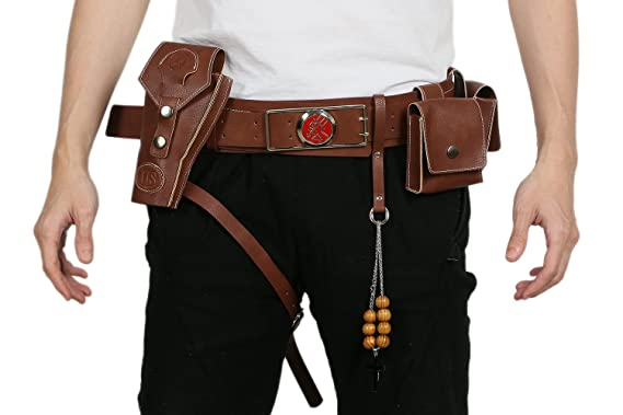 xcoser hellboy belt buckle holster costume accessories for halloween cosplay