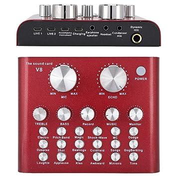 Tarjeta de Sonido Externa, USB Mezclador de Audio Externo ...