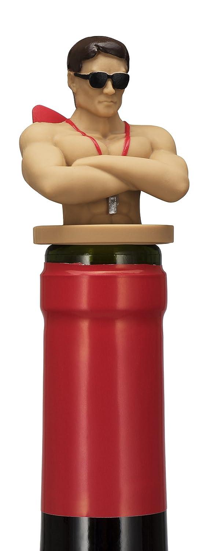 NPW NPW58154 Drinking Buddies Wine-1-1 Bottle Stopper