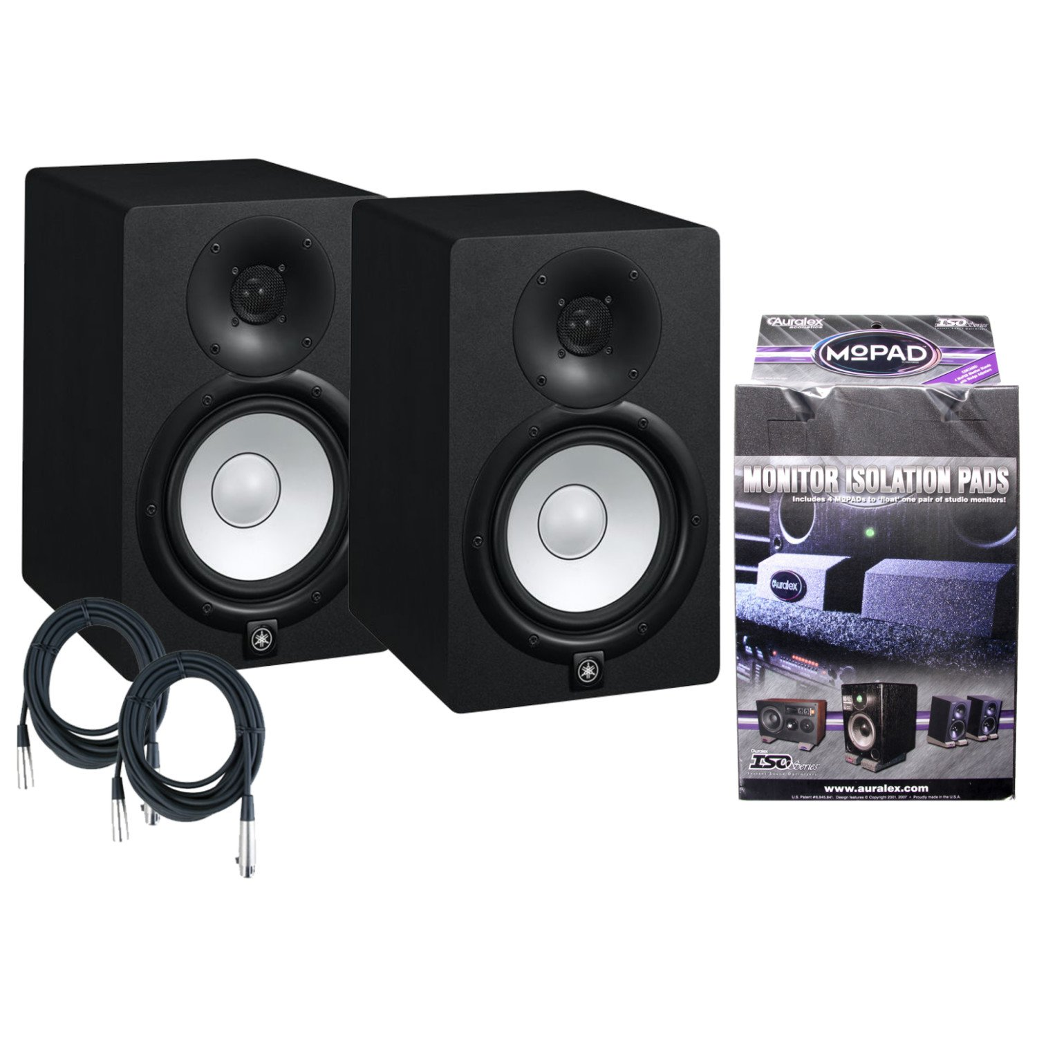Yamaha HS7 95W Active Studio Monitor W/MoPads and Cables