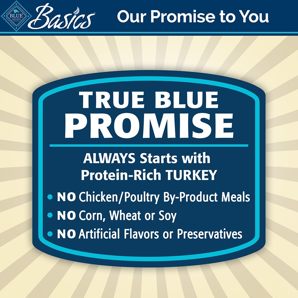 BLUE Basics Limited Ingredient Diet Adult Grain Free Turkey & Potato Wet Dog Food 12.5-oz (Pack of 12) by BLUE Basics (Image #8)