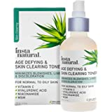 Vitamin C Skin Clearing Toner - Natural & Organic Anti Aging Facial Spray with Salicylic Acid & Hyaluronic Acid - Helps Wrink