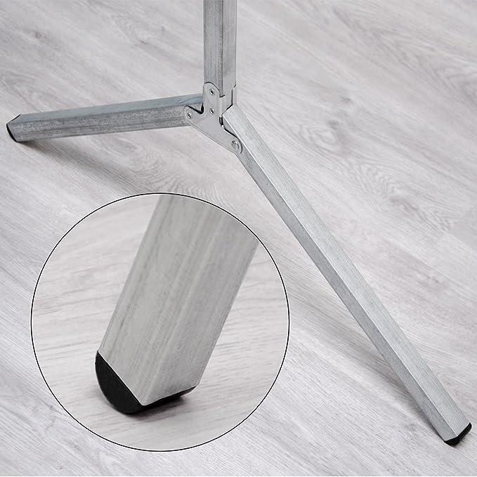 EYEPOWER Perchero de Burro 100% Metal | Plegable portátil versátil | Barra para Colgar Prendas 150 cm de Largo | Plateado