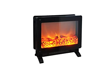 marino free standing electric fireplace stove 195 inch black portable electric fireplace with realistic fire