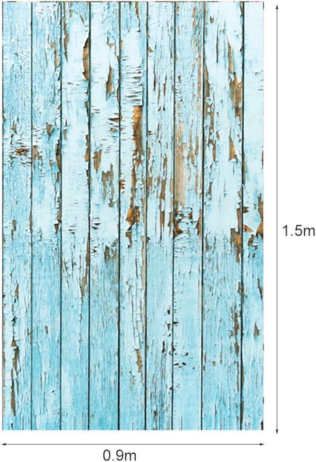 Demiawaking 3x5ft Blau Holz Vinyl Studio Fotografie Hintergrund Foto Requisiten Musikinstrumente