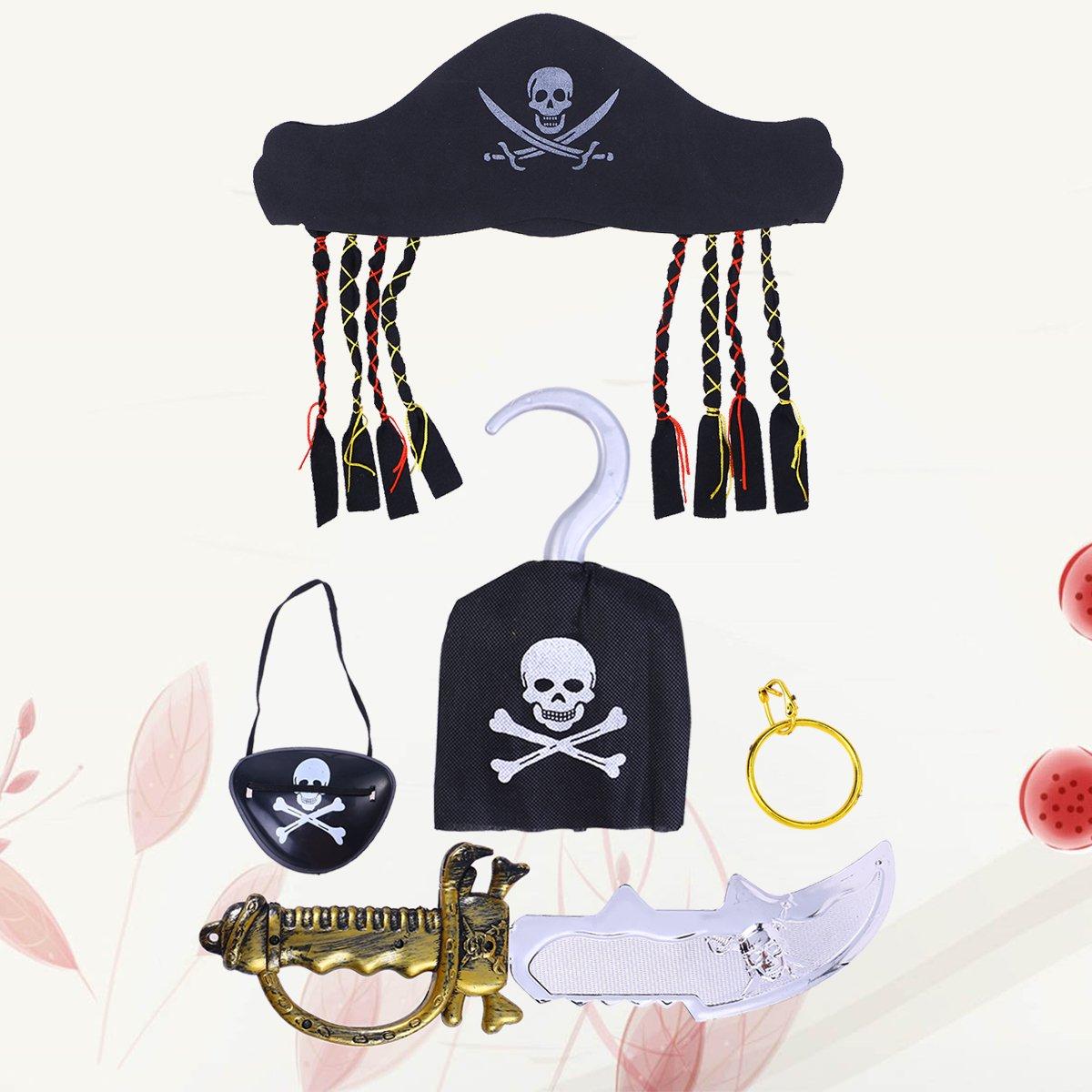Toyvian 5pcs Disfraz de Pirata de Halloween Prop Set Suministros ...