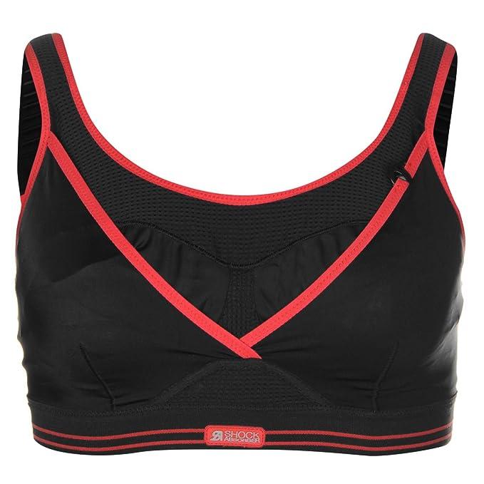 Shock Absorber - Sujetador deportivo - para niña negro/rojo 36, H: Amazon.es: Ropa y accesorios