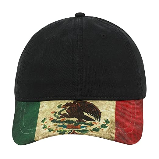 Mexico Flag Printed Low Profile Soft Cotton Baseball Cap - BLACK at ... 2aaf3d974f1