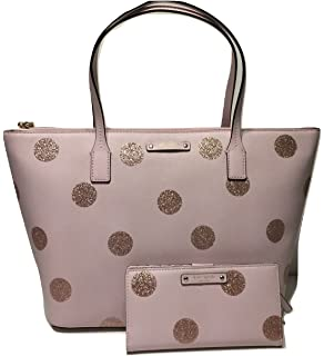 Amazon kate spade ice cream whats the scoop tote bag flavor of kate spade new york haven lane hani wkru4119 pink glitter polka dot plmdwn dot junglespirit Image collections