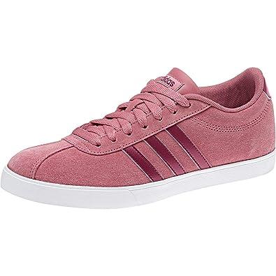 new style 8483f 00075 adidas Courtset, Chaussures de Tennis Femme, Rouge Tramar Mysrub, 36 EU