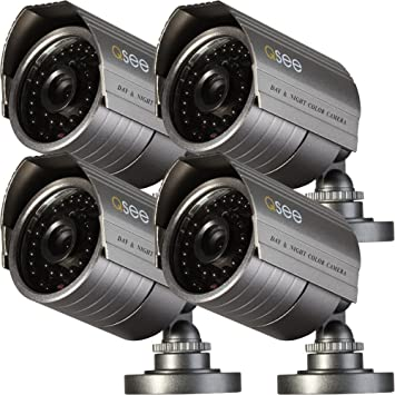 Q-See QM7008B-4 CCTV security camera Interior y exterior Bala Carbón vegetal -