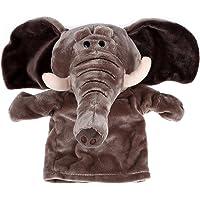 TOOGOO(R) Marionetas de mano animales de terciopelo de felpa lindo Diseno chic Juguete de ayuda de aprendizaje para ninos (Elefante)