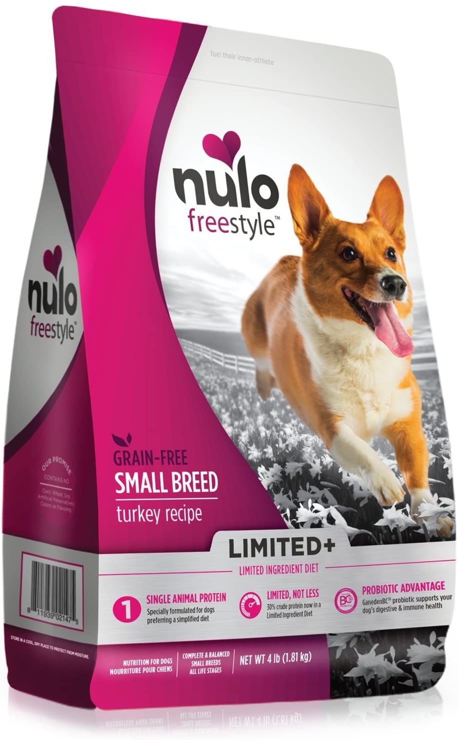 Nulo Puppy Adult Small Breed Freestyle Limited Plus Grain Free Dry Dog Food All Natural Limited Ingredient Diet for Digestive Immune Health – Allergy Sensitive Non GMO – 4.5, 11, or 24 lb Bag