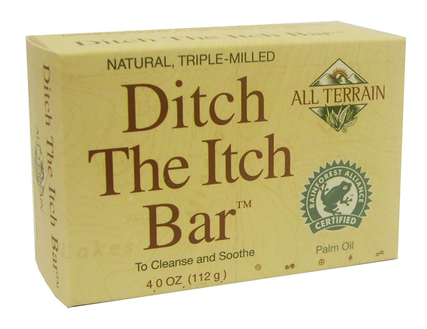 All Terrain Natural Ditch the Itch Bar 4oz, Helps