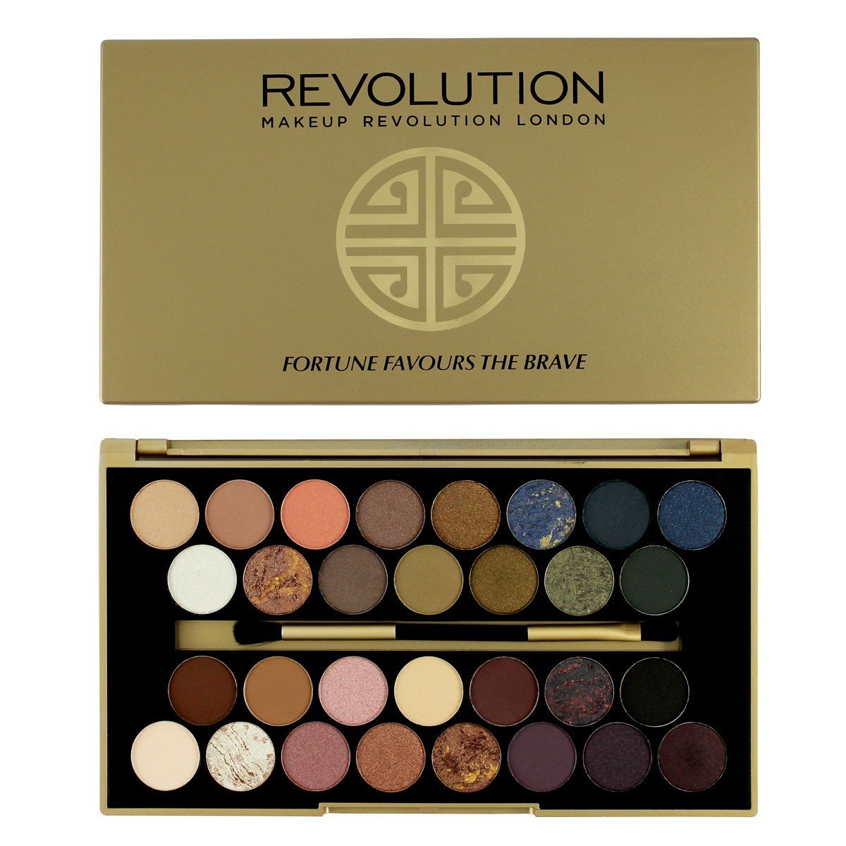 Makeup Revolution Palette Blush Bronze Highlight Make Up Fortune Favours The Brave By