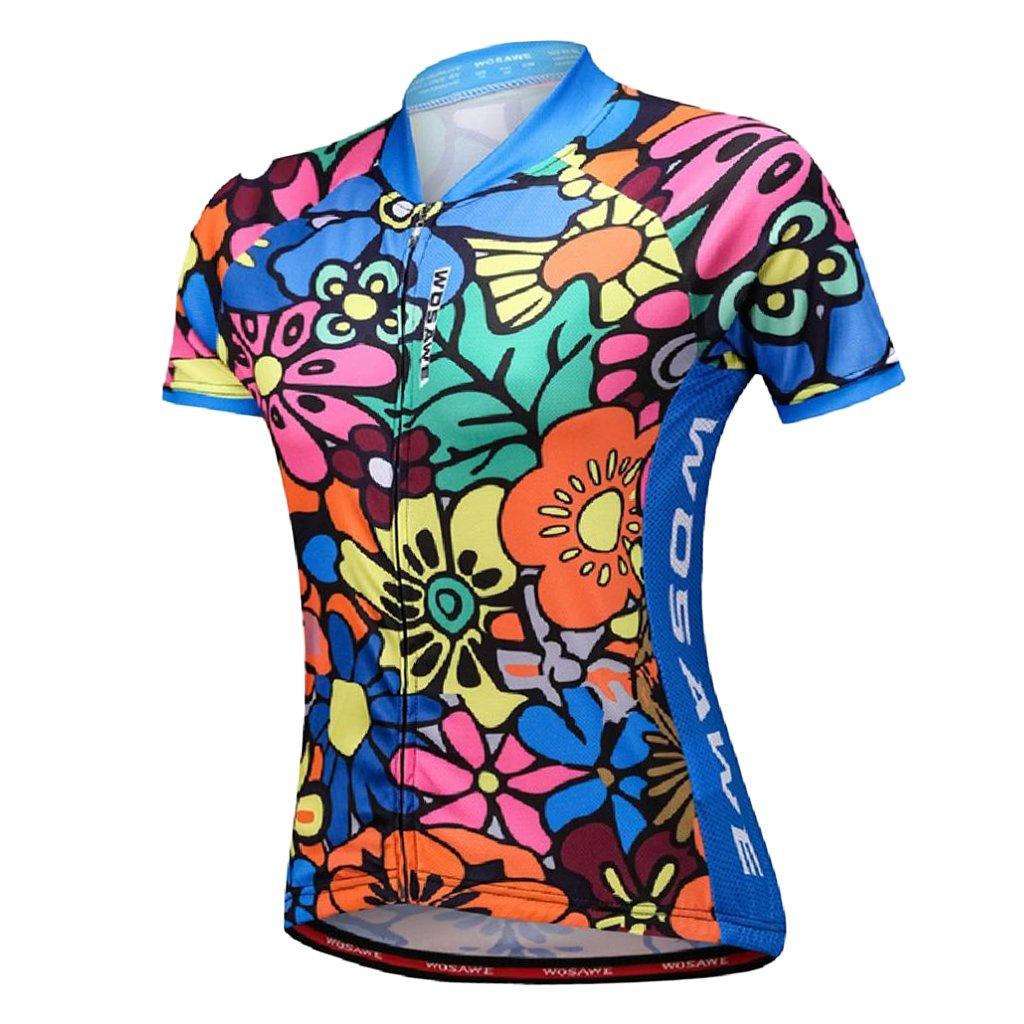 人気ショップ prettyiaスカルパターン速乾性軽量サイクリングショートスリーブジャージトップTシャツの女性の夏アウトドアスポーツロード自転車Biking X-Large カラーB B07F8C232R X-Large カラーB B07F8C232R, リーブス革鞄店:6f31fc21 --- martinemoeykens-com.access.secure-ssl-servers.info