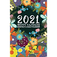 Image for 2021 Pocket Calendar Monthly And Daily Planner: Purse Small Size Year Day Organizer For Women Perfect Christmas Gift For Mom Friend To Make Them Happy Flowers Cover