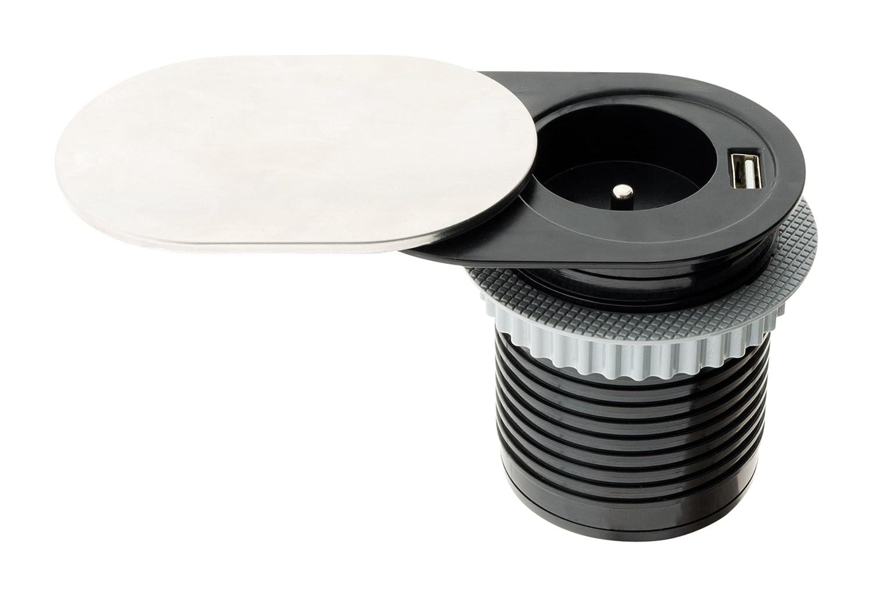 Otio Bloc prise encastrable compact /à glissi/ère avec port USB
