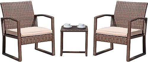 Patiorama 3 Pieces Outdoor Patio Furniture Set
