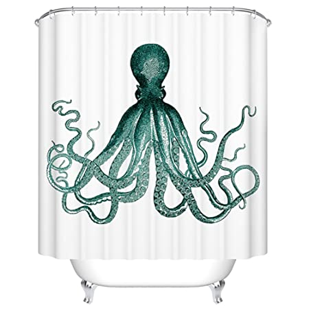 Goodbath Octopus Kraken Sea Monster Shower Curtains Waterproof And Mildew Free Fabric Bathroom Curtain