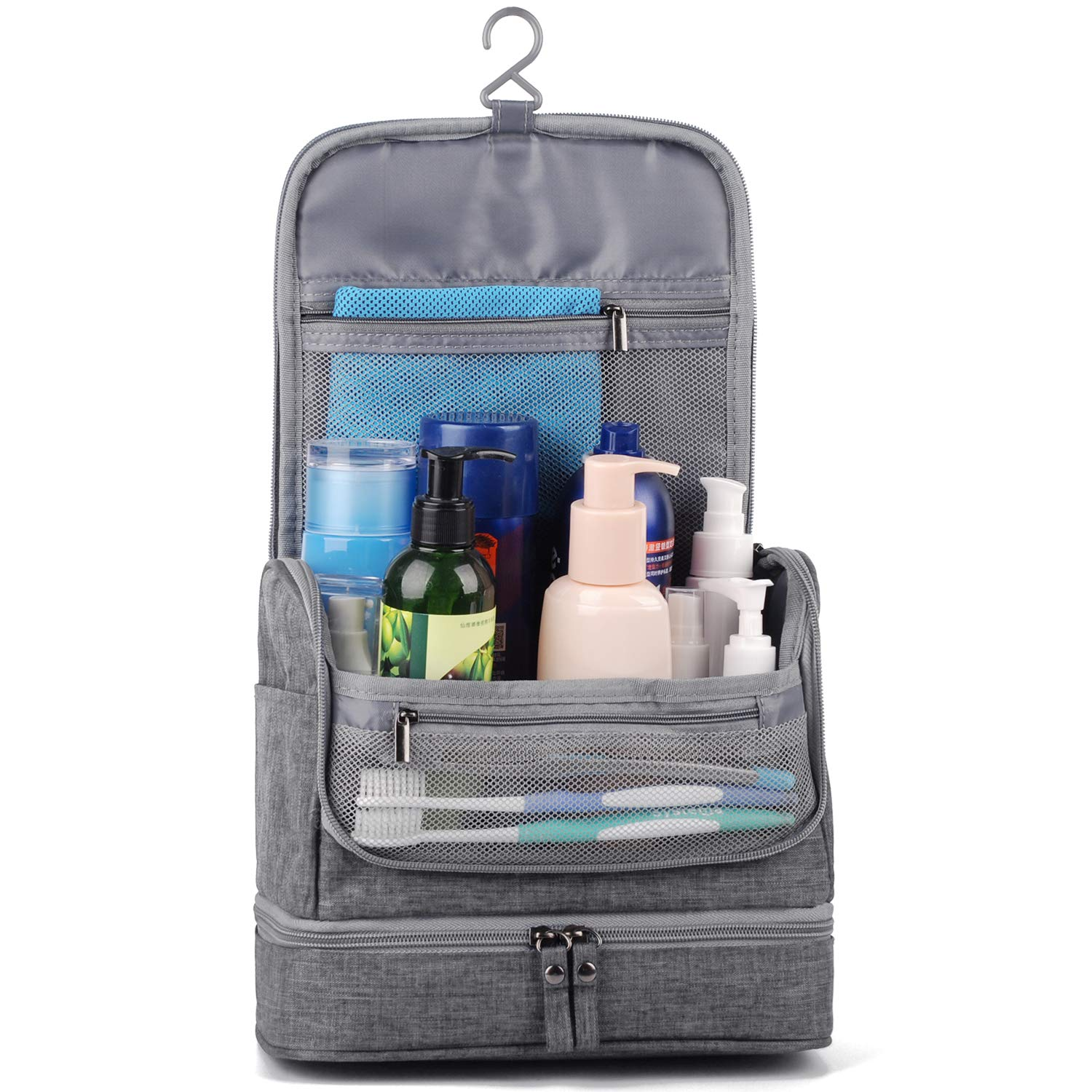 Narwey Travel Toiletry Bag Hanging Cosmetic Makeup Organizer Shaving Kit Waterproof for Men and Women by Narwey (Image #2)