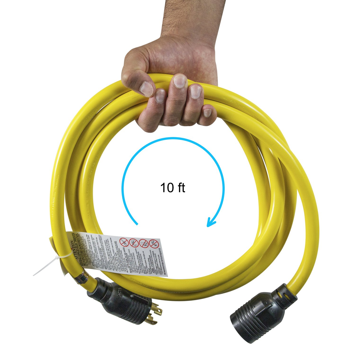 Houseables Generator Cord, Electric Extension Wire, 4 Prong, 30 Amp ...