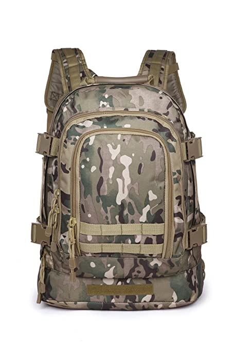 39 to 64 L expandable 3 days military tactical backpack (Multicam)