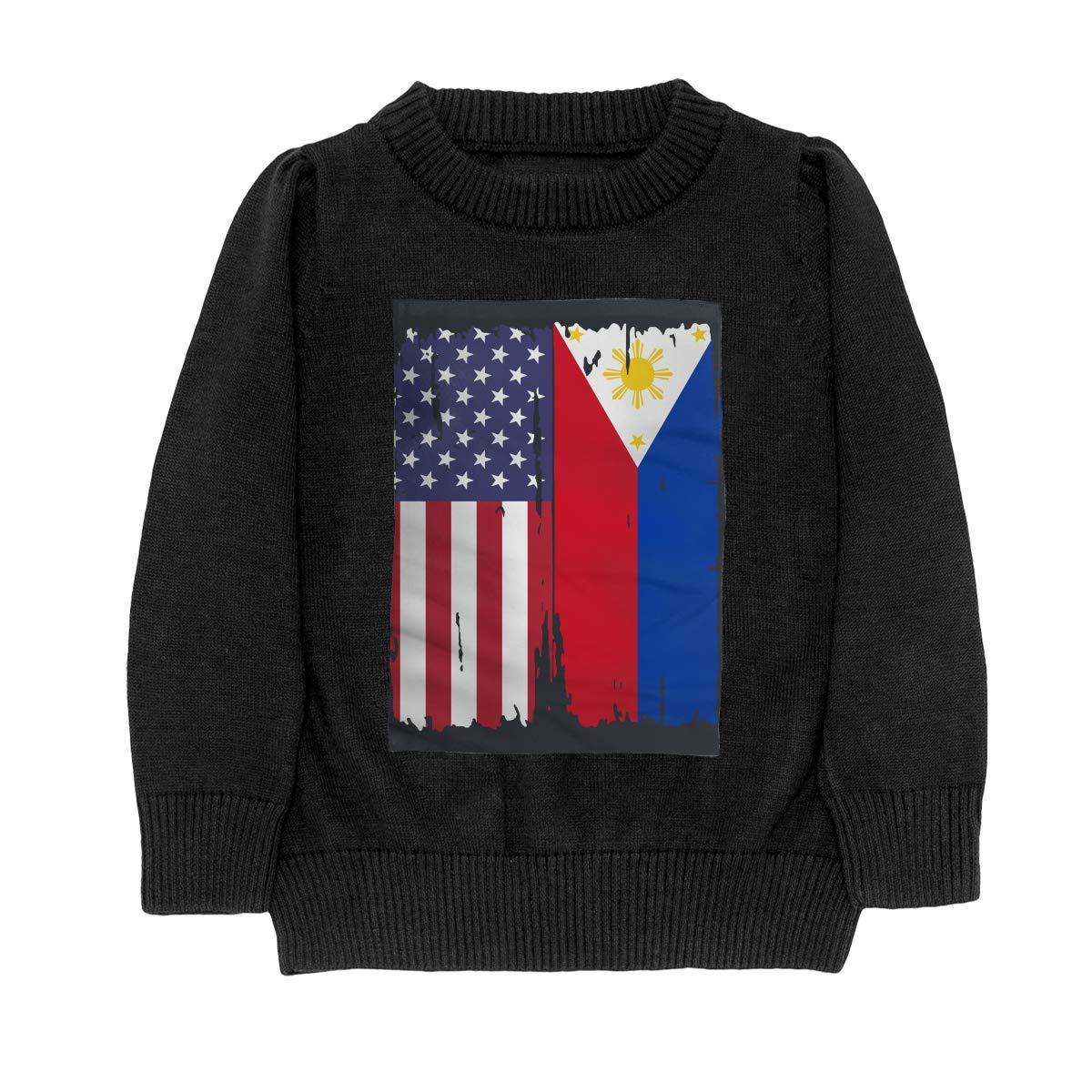 WWTBBJ-B American Philippines Flag Style Teenager Boys /& Girls Unisex Sweater Keep Warm