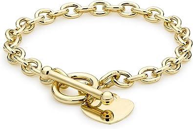 9ct Yellow Gold Oval Belcher Bracelet 19cm 7.5 inch