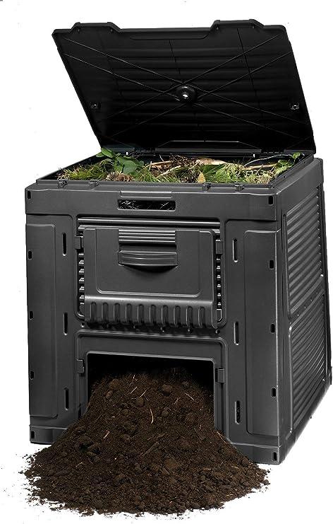 Keter - Compostador e-composter con capacidad de 470 L, Color gris ...