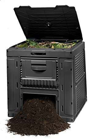 Keter - Compostador e-composter con capacidad de 470 L, Color gris oscuro: Amazon.es: Hogar