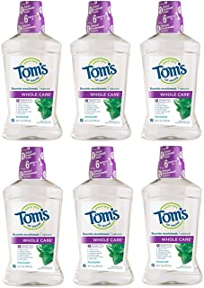 product image for Tom's of Maine Whole Care Natural Mouthwash, Natural Mouthwash, Fresh Mint, 16 Ounce, 6-Pack