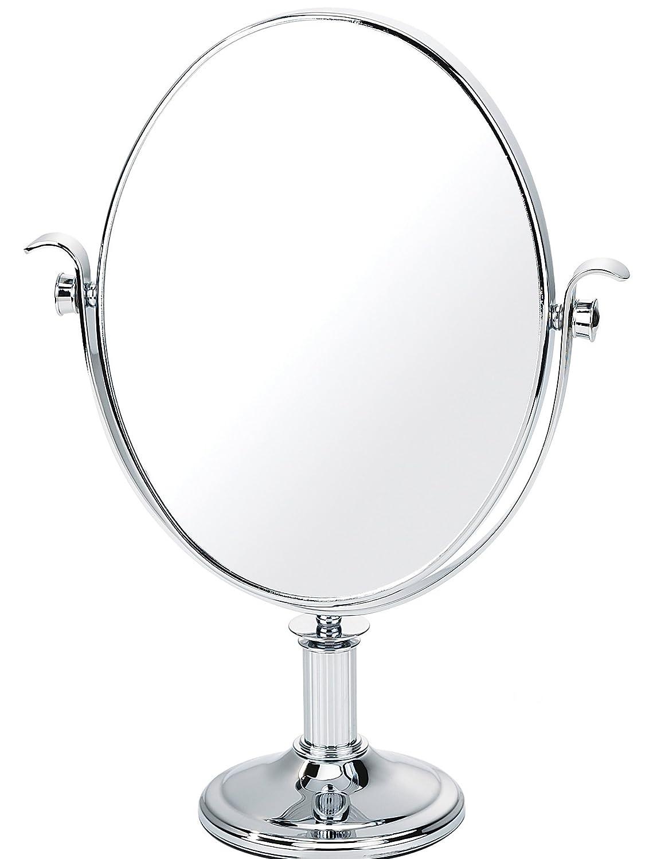 Tweezerman - 640 - Mirroir Grossissant x5 Argenté - 24x19cm - Hauteur 34 cm avec Pedestal 0640