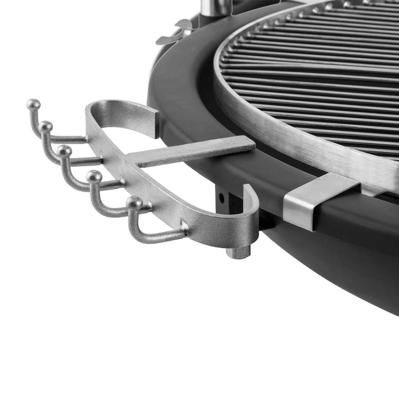 Blumfeldt Delion Barbacoa de carbón (Parrilla Colgante de 80 cm de diámetro con manivela para Ajustar Altura, repisa Frontal de Madera, brasero de ...