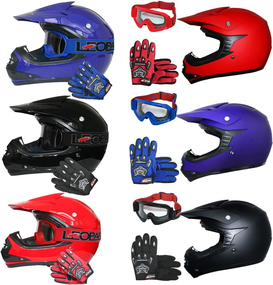 Youth Mx All Sizes New Kids Wulfsport Motocross Helmet Goggles Gloves Bundle