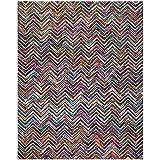"""Safavieh Nantucket Collection NAN311A Handmade Abstract Chevron Multicolored Cotton Area Rug (7'6"""" x 9'6"""")"""