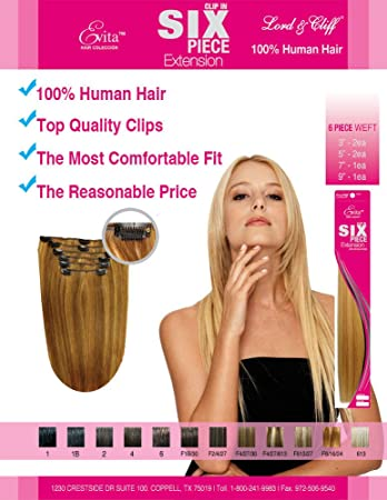 Amazon clip in on hair extensions 18 lord and cliff human clip in on hair extensions 18quot lord and cliff human hair color 613 pmusecretfo Choice Image