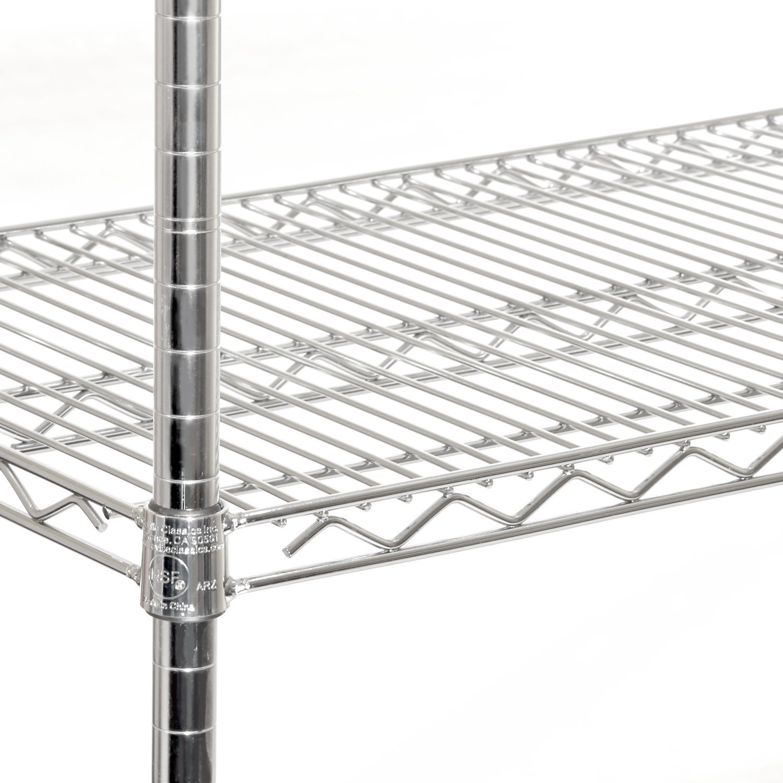 Seville Classics 5-Tier UltraZinc NSF Steel Wire Shelving  /w Wheels, 18'' D x 60'' W x 72'' H by Seville Classics (Image #2)